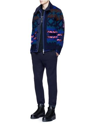 Figure View - Click To Enlarge - Sacai - Windbreaker trim drawstring jersey sweatpants