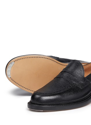 Detail View - Click To Enlarge - THOM BROWNE - Pebble leather penny loafers