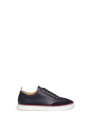 Main View - Click To Enlarge - Thom Browne - Suede toe leather sneakers