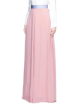 Front View - Click To Enlarge - Roksanda - 'Leighton' ladder stitch seam crepe skirt