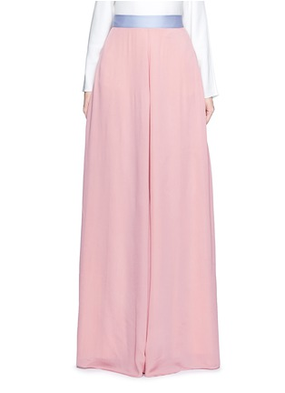 Main View - Click To Enlarge - Roksanda - 'Leighton' ladder stitch seam crepe skirt