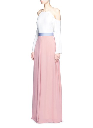 Figure View - Click To Enlarge - Roksanda - 'Leighton' ladder stitch seam crepe skirt
