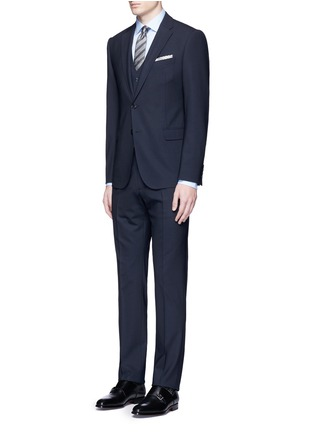 Figure View - Click To Enlarge - ARMANI COLLEZIONI - Wool hopsack waistcoat