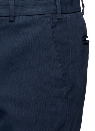 Detail View - Click To Enlarge - Armani Collezioni - Slim fit cotton chinos