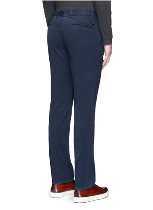 Back View - Click To Enlarge - Armani Collezioni - Slim fit cotton chinos