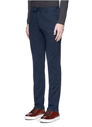Front View - Click To Enlarge - Armani Collezioni - Slim fit cotton chinos
