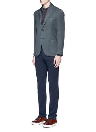 Figure View - Click To Enlarge - Armani Collezioni - Slim fit cotton chinos