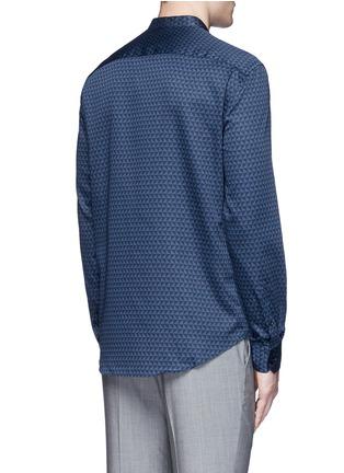Back View - Click To Enlarge - Armani Collezioni - Triangle print cotton shirt