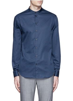 Main View - Click To Enlarge - Armani Collezioni - Triangle print cotton shirt