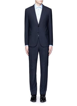 Main View - Click To Enlarge - Armani Collezioni - 'Metropolitan' pick stitch wool suit