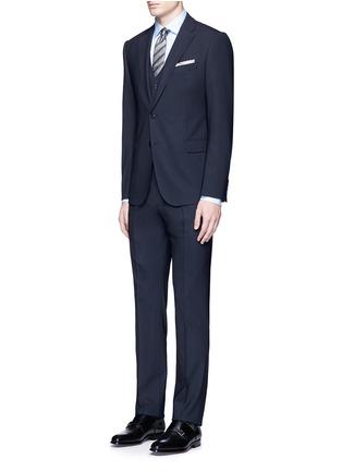 Figure View - Click To Enlarge - Armani Collezioni - 'Metropolitan' pick stitch wool suit