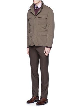 Figure View - Click To Enlarge - Armani Collezioni - Slim fit stripe cotton shirt