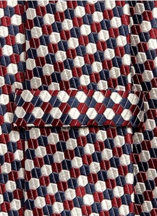Detail View - Click To Enlarge - Armani Collezioni - Hexagon silk tie