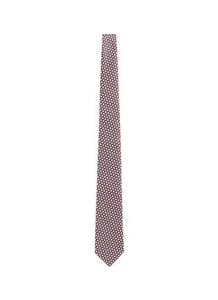 Main View - Click To Enlarge - Armani Collezioni - Hexagon silk tie