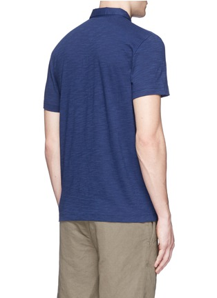 Back View - Click To Enlarge - THEORY - 'Koree' cotton slub jersey polo shirt