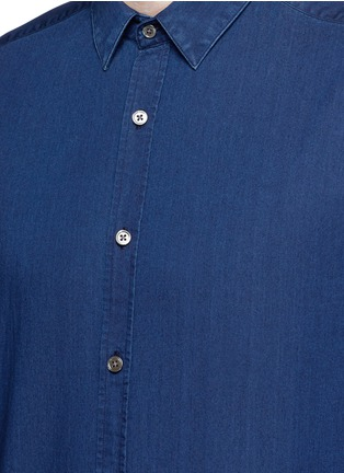 Detail View - Click To Enlarge - Theory - 'Zack PS' cotton chambray shirt
