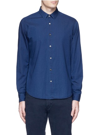 Main View - Click To Enlarge - Theory - 'Zack PS' cotton chambray shirt
