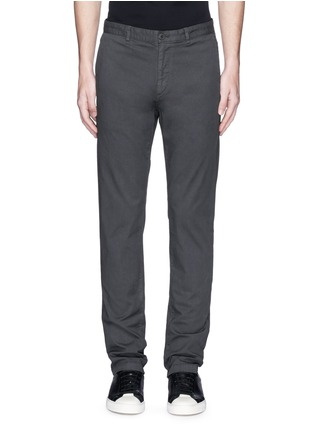 Main View - Click To Enlarge - Theory - 'Zaine' cotton straight leg pants