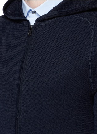 Detail View - Click To Enlarge - Theory - 'Melker' waffle knit zip front sweater