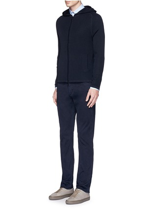 Figure View - Click To Enlarge - Theory - 'Melker' waffle knit zip front sweater