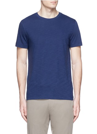 Main View - Click To Enlarge - THEORY - 'Koree' cotton slub jersey T-shirt