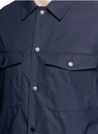 Detail View - Click To Enlarge - THEORY - 'Drato' tech fabric shirt jacket