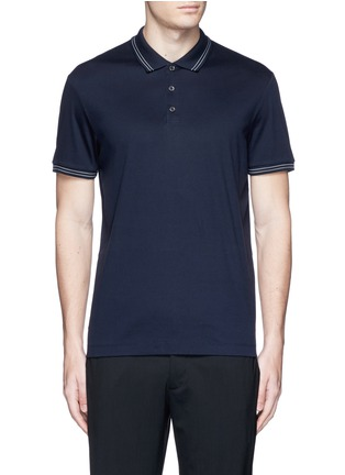 Main View - Click To Enlarge - Theory - 'Boyd TC' cotton jersey polo shirt
