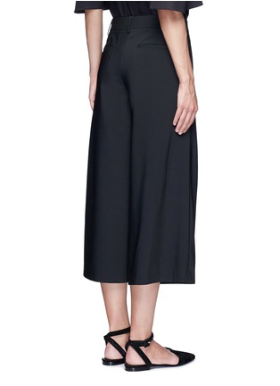 Back View - Click To Enlarge - Tibi - 'Edie' tropical wool culottes