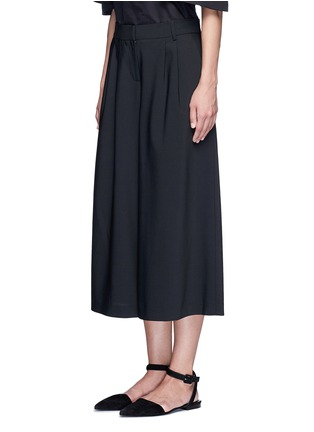 Front View - Click To Enlarge - Tibi - 'Edie' tropical wool culottes