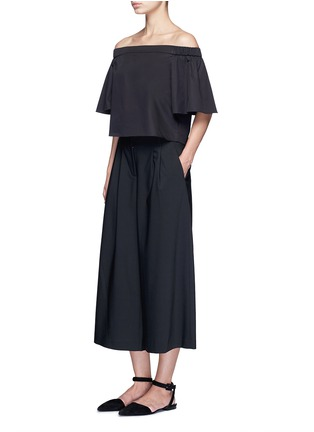Figure View - Click To Enlarge - Tibi - 'Edie' tropical wool culottes