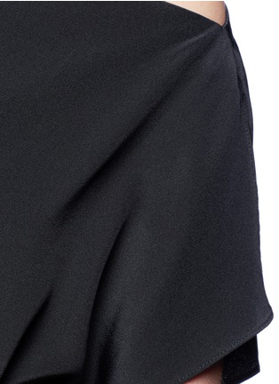 Detail View - Click To Enlarge - Tibi - Silk one-shoulder top