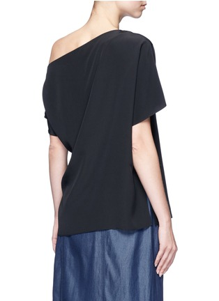 Back View - Click To Enlarge - Tibi - Silk one-shoulder top