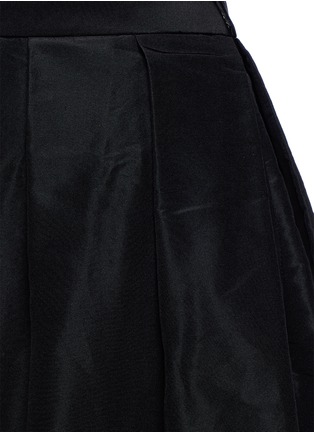 Detail View - Click To Enlarge - TIBI - Pleat front silk faille flare midi skirt