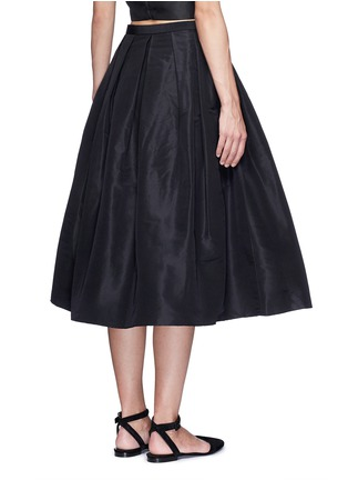 Back View - Click To Enlarge - TIBI - Pleat front silk faille flare midi skirt