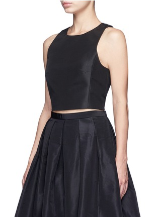 Front View - Click To Enlarge - Tibi - Silk faille cropped top