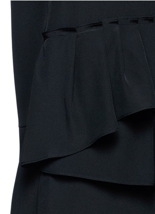 Detail View - Click To Enlarge - Tibi - Ruffle waist silk V-neck jumpsuit