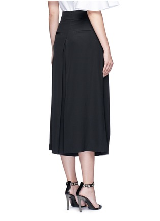Back View - Click To Enlarge - Tibi - Inverted pleat silk culottes
