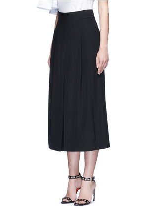 Front View - Click To Enlarge - Tibi - Inverted pleat silk culottes