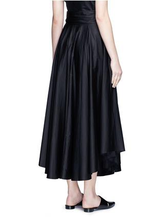 Back View - Click To Enlarge - TIBI - Obi sash pleat poplin skirt
