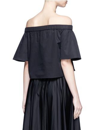 Back View - Click To Enlarge - Tibi - Cotton poplin off-shoulder top
