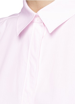 Detail View - Click To Enlarge - Cédric Charlier - Boxy fit cotton poplin shirt
