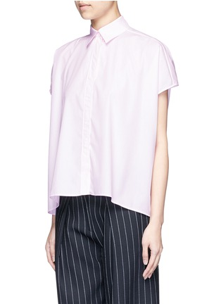 Front View - Click To Enlarge - Cédric Charlier - Boxy fit cotton poplin shirt