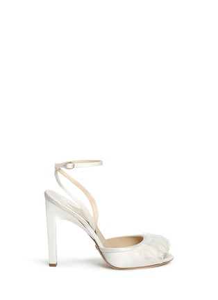 Main View - Click To Enlarge - PAUL ANDREW - 'Piume' feather satin sandals