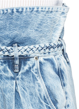Detail View - Click To Enlarge - Tortoise Denim - Paperbag waist denim shorts