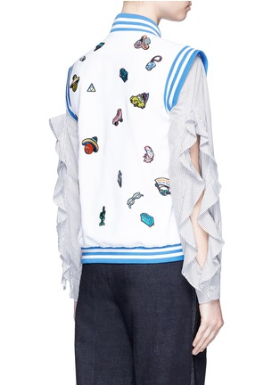 Back View - Click To Enlarge - Mira Mikati - Cartoon icon patch sleeveless bomber jacket