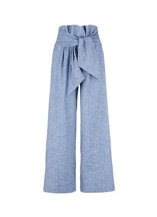 Main View - Click To Enlarge - MSGM - Wrap waist chambray culottes