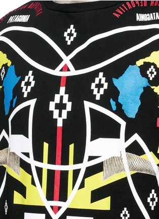 Detail View - Click To Enlarge - Marcelo Burlon - 'Osorno' collage print sweatshirt