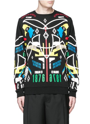 Main View - Click To Enlarge - Marcelo Burlon - 'Osorno' collage print sweatshirt