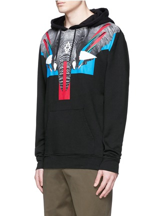 Front View - Click To Enlarge - Marcelo Burlon - 'Renca' elephant print hoodie