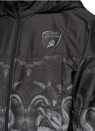Detail View - Click To Enlarge - Marcelo Burlon - 'Lamborghini' snake print zip jacket